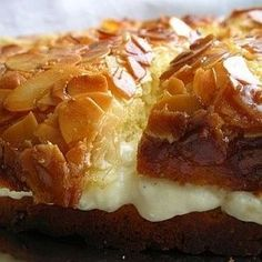 Bee Sting Cake. This bee sting cake recipe or bienenstich is popular in German-speaking countries and Hungarians have borrowed it from their neighbors