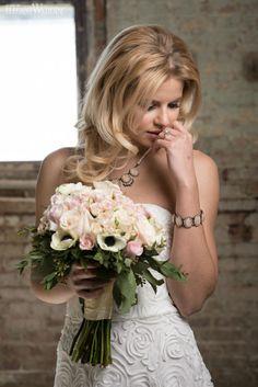 Pink pastel bouquet, bridal bouquet, wedding flowers, wedding bouquet, blonde bride! INDUSTRIAL BLACK & PINK WEDDING THEME www.elegantwedding.ca