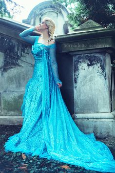 Queen Elsa Upscale Adult Costume Gown Custom