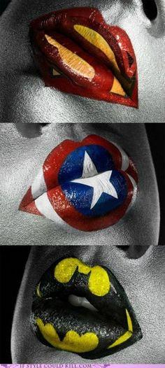 Super Hero lips ..!?