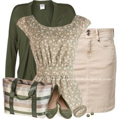 """""""Olive & Beige"""" by stay-at-home-mom on Polyvore"""