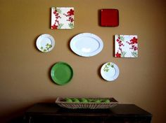 simple themed plates