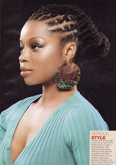 Updo that would look great on box braids, dreads, or twists!!! Follow BHI on Facebook & Twitter too!  www.facebook.com/... twitter.com/...