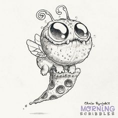 Pizza bug! #morningscribbles #pizza
