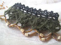 #Crochet lace anklet free pattern by Fatima