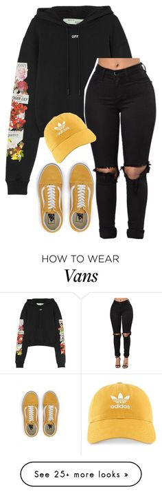 """Untitled #770"" by justinbieber-zaikara on Polyvore featuring Off-White, adidas and Vans"