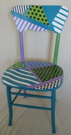 Shipping Furniture From Usa To Australia Hand Painted Chairs, Whimsical Painted Furniture, Hand Painted Furniture, Funky Furniture, Recycled Furniture, Home Decor Furniture, Shabby Chic Furniture, Furniture Makeover, Decoration
