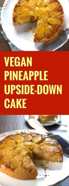 Vegan Pineapple Upside Down Cake // coconut oil, light brown sugar, pineapple, plain flour, baking powder, bicarb soda, pineapple juice, tinned coconut milk, vanilla extract