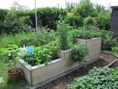 Raised bed made of buldielen, can also be quickly and easily realized with essay frame. - All About Garden Backyard Garden Design, Rooftop Garden, Small Gardens, Outdoor Gardens, Garden Pots, Vegetable Garden, Pot Jardin, Farmhouse Garden, Pallets Garden