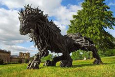 Artist Creates the Most Amazing Sculptures Using Recyled Tyres