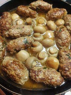 Boulettes de viande aux champignons