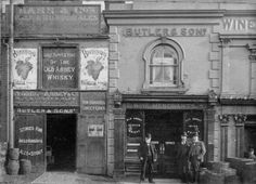 Butler & Sons Wine Merchants, Chatham St, Reading. with acknowledgment to Reading Museum (Reading Borough Council)