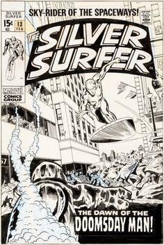 Original Comic Art:Covers, John Buscema and Dan Adkins Silver Surfer #13 Cover OriginalArt (Marvel, 1970)....
