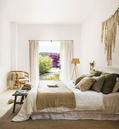 〚 Lovely summer villa with views on the site of old farmhouse in Ibiza 〛 #interior #design #home #decor #idea #Inspiration #cozy #living #natural #wood #beige #white #summer Cute Apartment, Apartment Bedroom Decor, Room Decor Bedroom, Home Bedroom, Bedroom Furniture, Bedroom Signs, Bedroom Rustic, Bed Room, Bedroom Ideas