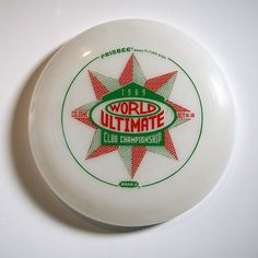 History: First Ever World Ultimate and Guts Club Championship Disc, Wham-O 80 mould in clear plastic