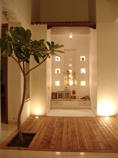 30 Best Temple-Mandir Design Ideas in Contemporary House - The Architects Diary Mandir Design, Pooja Room Design, Home Temple, Exterior Wall Light, Exterior Lighting, Puja Room, Indian Homes, Meditation Space, Indian Home Decor