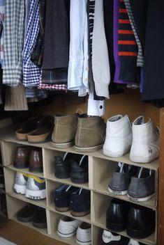 Shoe rack in a box - IKEA Hackers