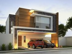 The modern home exterior design is the most popular among new house owners and those who intend to become the owner of a modern house. Residential Architecture, Contemporary Architecture, Interior Architecture, Amazing Architecture, Design Exterior, Modern Exterior, Door Design, Design Design, House Elevation
