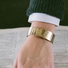 Anatomical Human Teeth Brass Cuff Bracelet  Gift by JezebelCharms