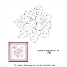 Anns Paper Art: Freepattern Flowers a100