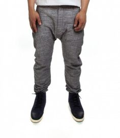 DAMARION DROP CROTCH PANTS IN SLATE  BY PUBLISH  $75.00