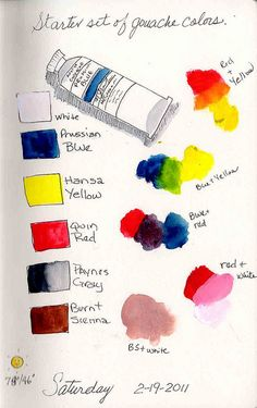 gouache colors