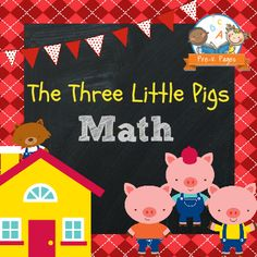 The Three Little Pigs curriculum theme unit for childcare, homeschool, preschool or kindergarten teachers. Includes printable activities for math and literacy.
