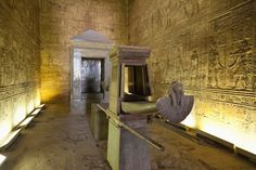 burial chamber, temple in Edfu, Egypt