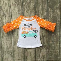 693c6de4 Meet Me at the Pumpkin Patch Raglan Icing T-shirt - Orange