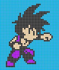 Kid Gohan - Dragon Ball perler bead pattern