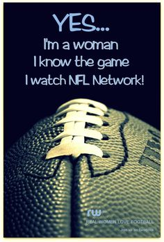 Well, I know the game some, but <3 love me some football