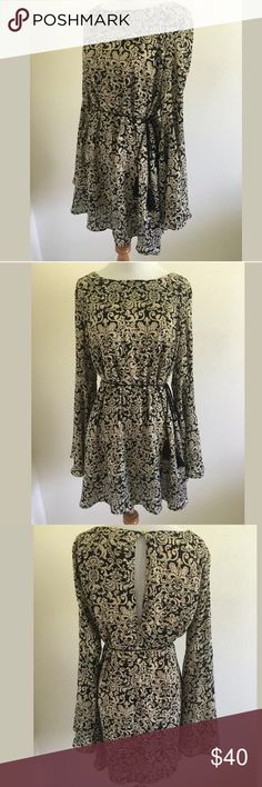 Anthropologie dress by Ark & Co. Fabric and lining both 100% polyester, waist 39, bust 40.5, shoulder to hem 32.5. Anthropologie Dresses Mini