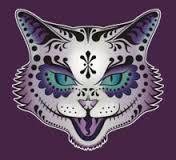 Image result for sugar skull cat