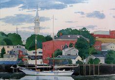 Sunrise, Camden Harbor - Joel Popadics