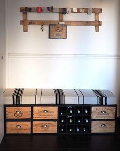 furniture-box of wine - bench