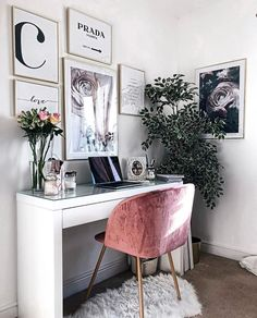 home workspace design inspirations; home office storage ideas for small spaces; home office ideas; Decor, Bedroom Design, Room Inspiration, Cozy House, Bedroom Decor, House Interior, Cozy Home Office, Room Decor, Apartment Decor