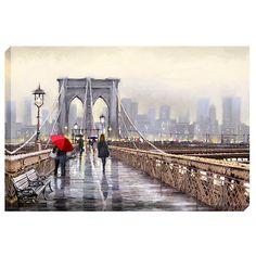 Buy Richard Macneil - Brooklyn Bridge Print on Canvas, 70 x 100cm online at John Lewis