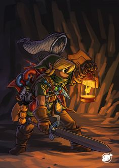 Really cool. :D  How DOES Link carry all that stuff?  -- my theory is that he has a magic pouch sort of like Mary Poppins' carpet bag except smaller.