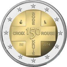 Bélgica 2 euros conmemorativos 150 Aniversario Cruz Roja 2014