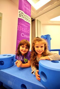Creation Station Giant Tinker Toys 2012 Franklin Institute (54) by The Franklin Institute Science Museum, via Flickr #playground #children #play #fun #playgroundequipment #school #indoors
