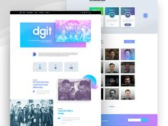Hey Dribbbbbbblers, how's it going today? Here's a new design I made for the coming DGiT website, the about us page. I'm really diggin' with the color scheme cause I love it! Don't click here, it...