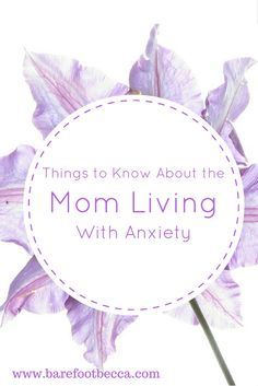 Many moms face anxiety at different levels.  Some are less severe, while others can be crippling. Click through to read about what it means to be a mom living with anxiety.
