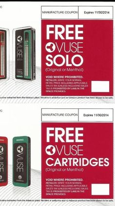 Free pack of cigarettes coupons