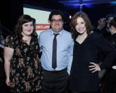 (L-R) Aidy Bryant, Bobby Moynihan and Vanessa Bayer attend IFC's 'Portlandia' Season 3 New York Premiere at American Museum of Natural History on December 10, 2012 in New York City. (Photo by Ilya S. Savenok/Getty Images)