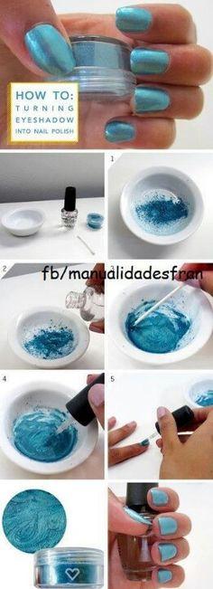 Hoe maak je van oogschaduw nagellak