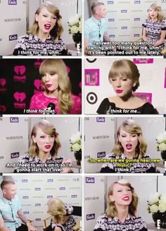 Please don't change Taylor! Every part of you that you think is flawed, we see it as flawless! Taylor Swift Quotes, Taylor Swift Fan, Swift 3, Taylor Alison Swift, Taylor Songs, Live Taylor, She Song, Celebs, Celebrities