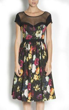 Black flowers...nissa dress