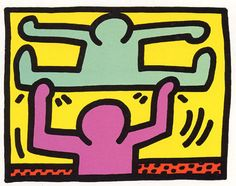 Keith Haring - Pop Shop 1 D | From a unique collection of prints and multiples at http://www.1stdibs.com/art/prints-works-on-paper/