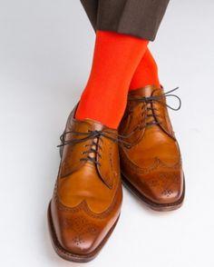 Dapper Classics Tigerlily Ribbed Mid-Calf Linked Toe Sock