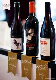 from the amazing WedLuxe Wedding Show!- love this idea for labeling wines at the bar.